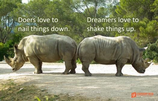 doers vs dreamers